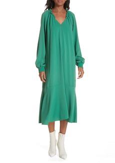 Tibi Savanna Crepe Midi Dress