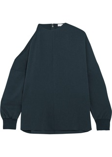 Tibi Savannah cold-shoulder crepe blouse