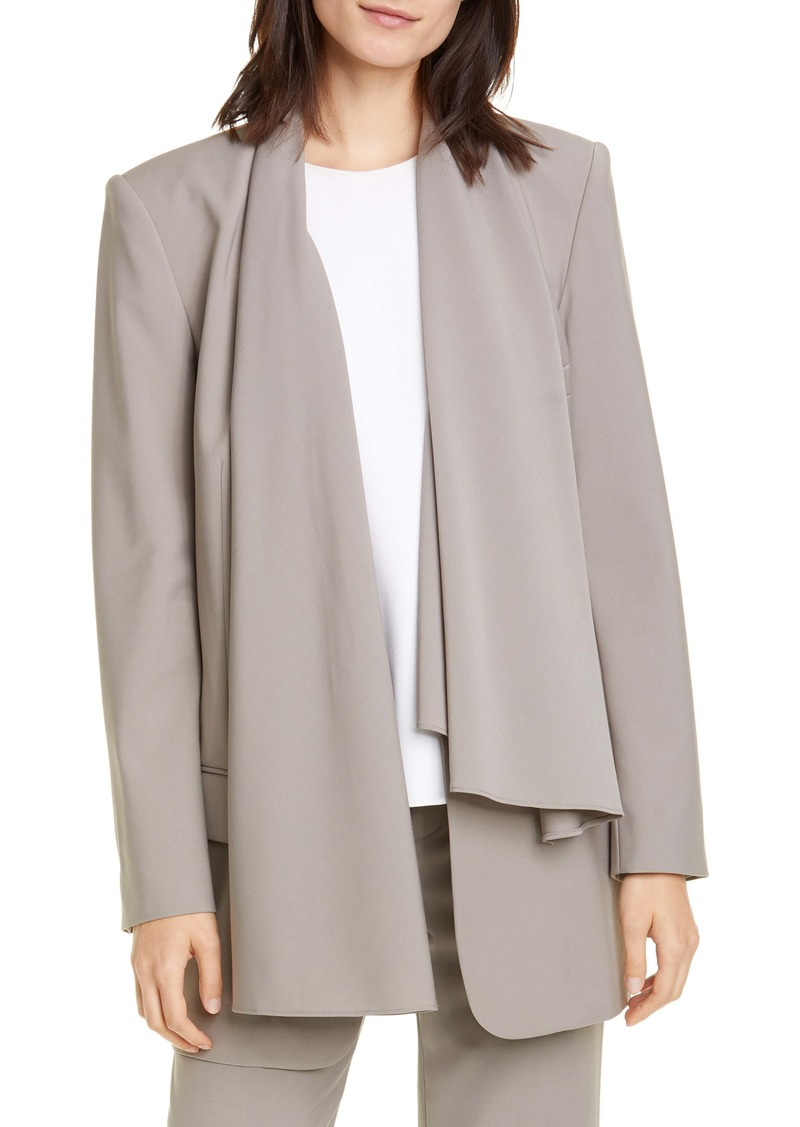 Tibi Scarf Neck Tropical Blazer