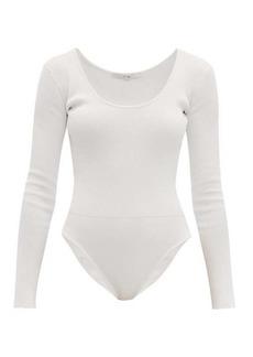 Tibi Scoop-neck ribbed bodysuit
