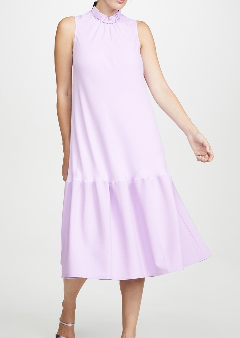Tibi Sculpted Drape Long Dress