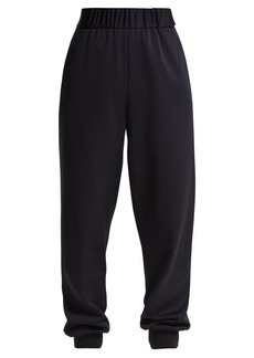 Tibi Sculpted elasticated-waist piqué trousers