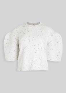 Tibi Sculpted Sleeve Crop Pullover