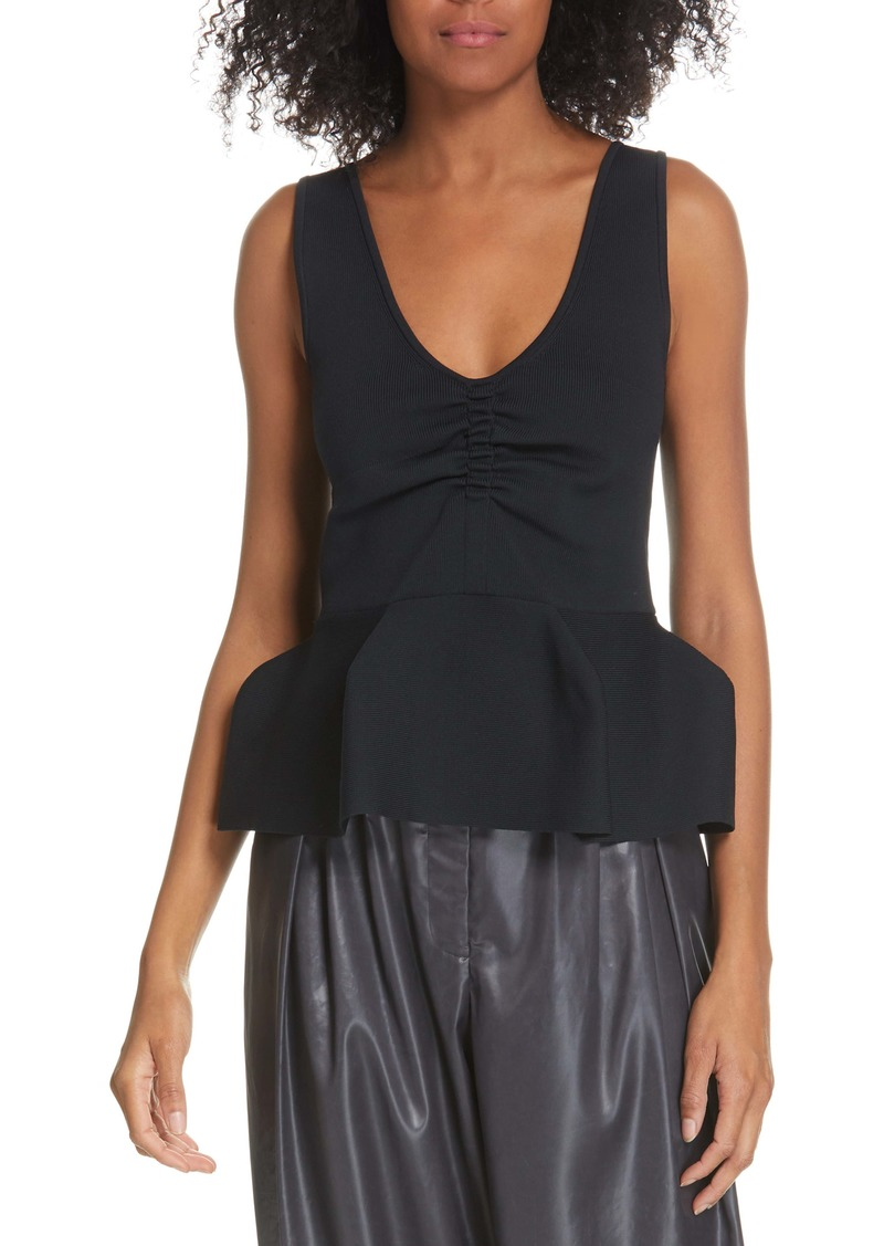 Tibi Sculpted Tech Ribbed Top