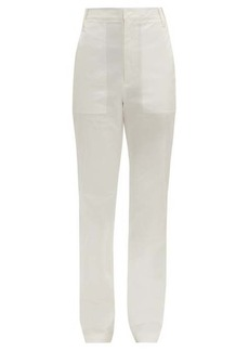 Tibi Sebastian high-rise cotton-blend twill trousers