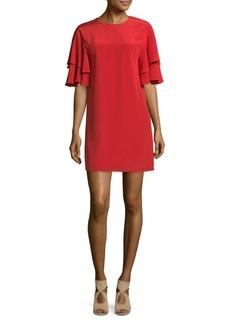 Tibi Self-Tie Silk Shift Dress