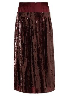 Tibi Sequin-embellished silk skirt