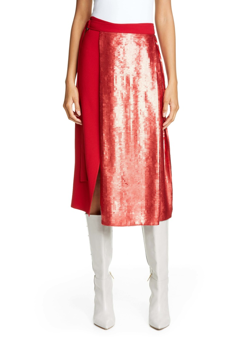 Tibi Sequin Panel Skirt