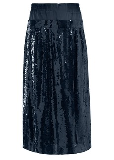 Tibi Sequinned silk midi skirt