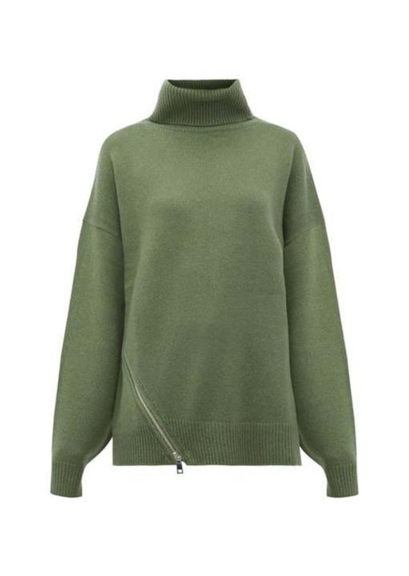 Tibi Side-zip cashmere sweater