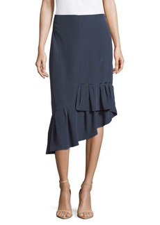 Tibi Silk Asymmetrical Ruffled Hem