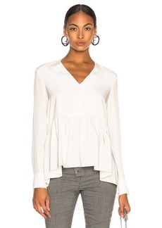 Tibi Silk CDC Peplum Top