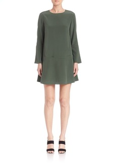 Tibi Silk Drop-Waist Dress