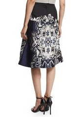 Tibi Silk Multipattern Wrap Skirt