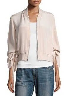 Tibi Silk Sculpted Bomber Jacket