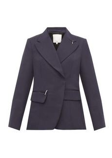 Tibi Single-breasted crepe jacket