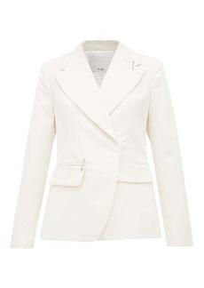 Tibi Single-breasted crepe jacket