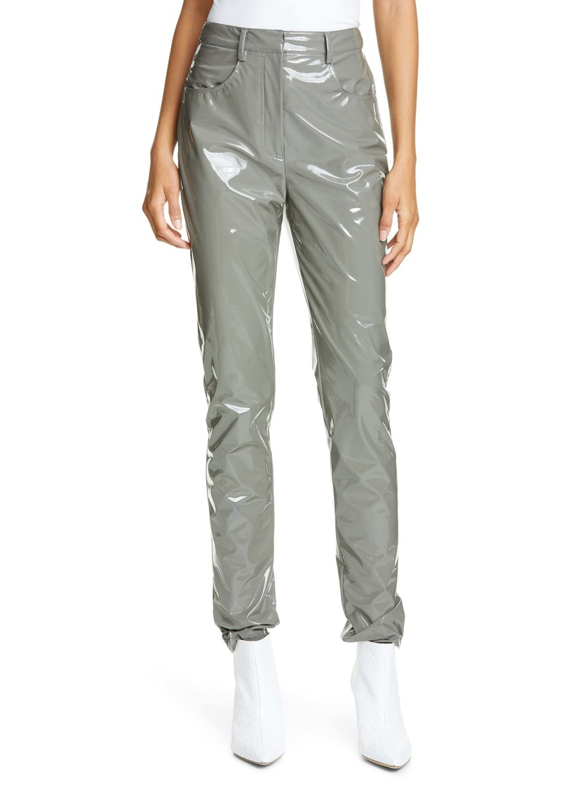 Tibi Skinny Tech Patent Trousers
