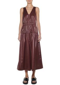 Tibi Sleeveless Shirred Culotte Jumpsuit
