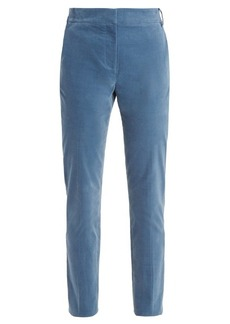 Tibi Slim-leg cotton-blend trousers