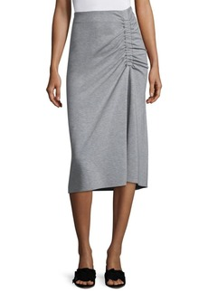 Tibi Slim Shirred Skirt