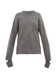 Tibi Slit-cuff alpaca-blend sweater