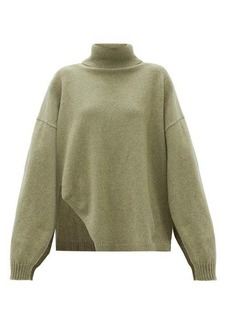 Tibi Slit-sleeve recycled cashmere-blend sweater