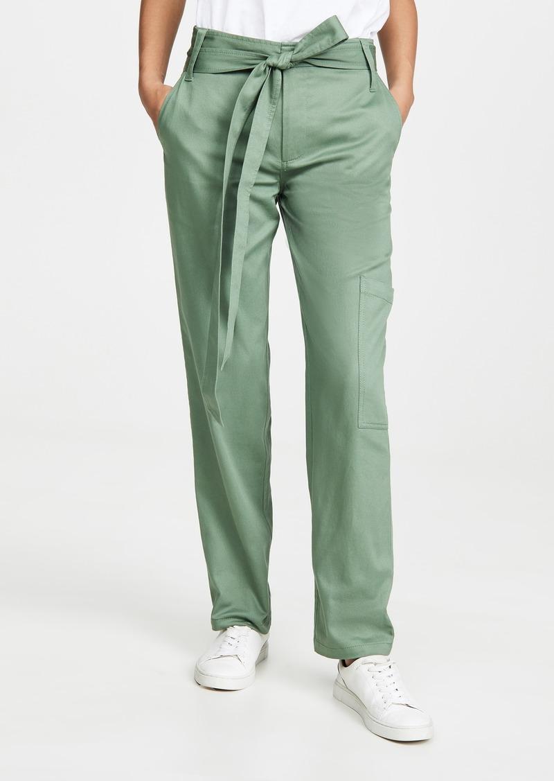 Tibi Slouch Front Tie Cargo Pants