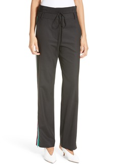 Tibi Slouchy Side Stripe Pants