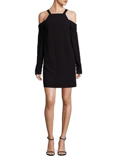 Tibi Solid Cold Shoulder Dress