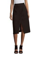 Tibi Solid Crepe Wrap Skirt