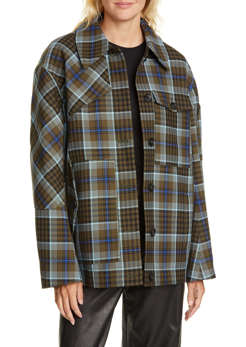 Tibi Spencer Check Jacket