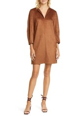 Tibi Split Neck Shift Minidress