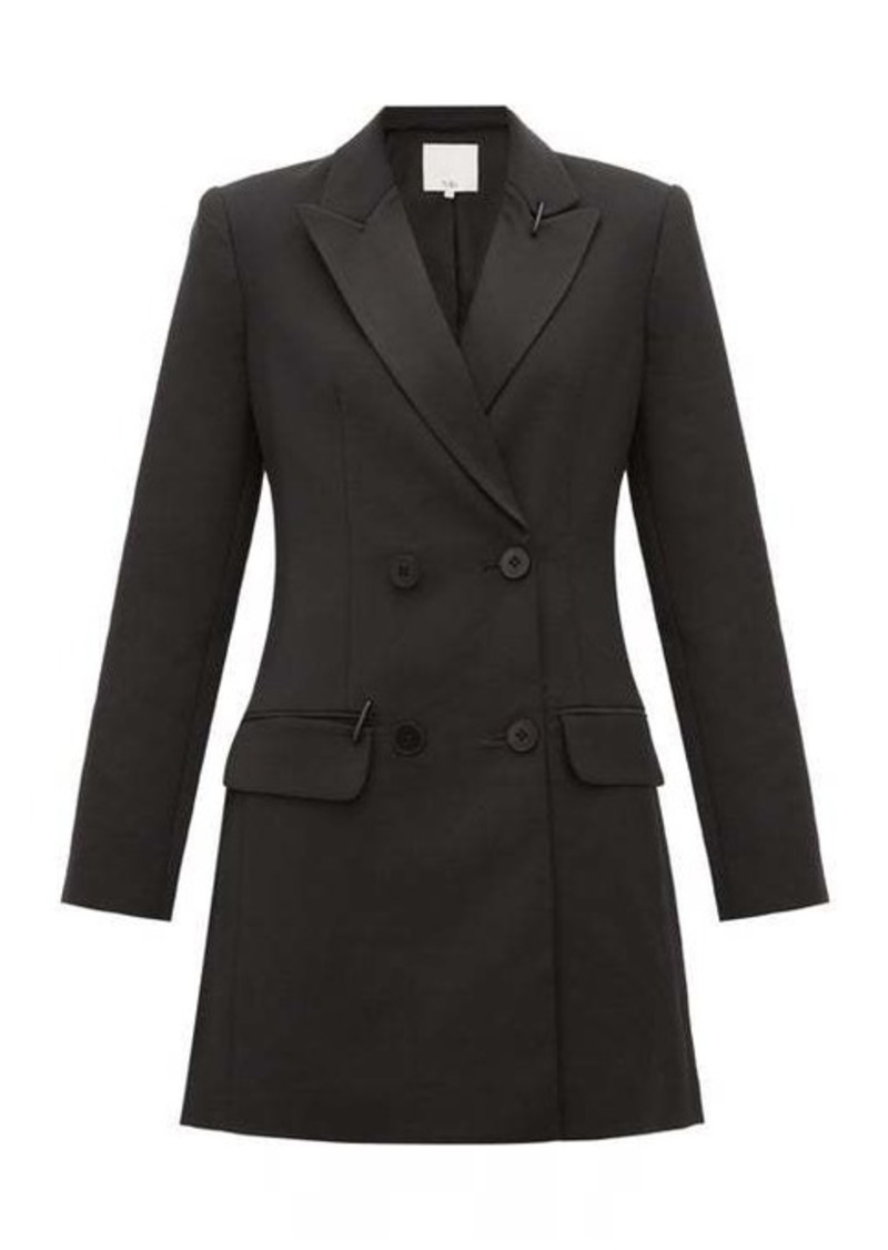 Tibi Stapled crépe tuxedo mini dress