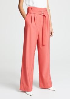 Tibi Stella Pleated Pants with Belt