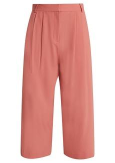 Tibi Stella wide-leg cropped trousers
