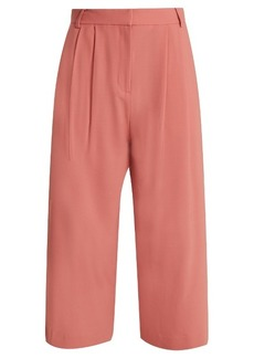 Tibi Stella wide-leg cropped trousers