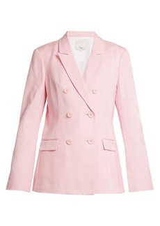 Tibi Steward double-breasted faille blazer