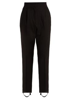 Tibi Stirrup-hem jersey trousers