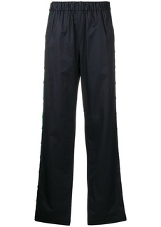 Tibi straight-leg poplin trousers - Blue
