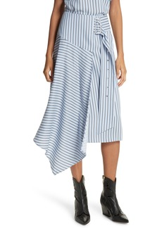 Tibi Stripe Midi Skirt