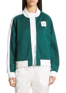 Tibi Stripe Sleeve Track Jacket