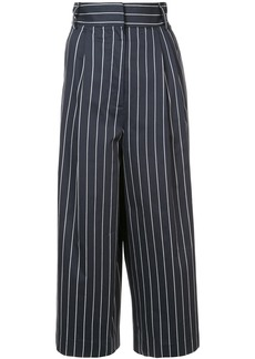 Tibi striped cropped trousers - Blue