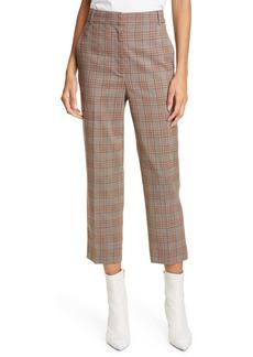 Tibi Taylor James Menswear Check Crop Pants