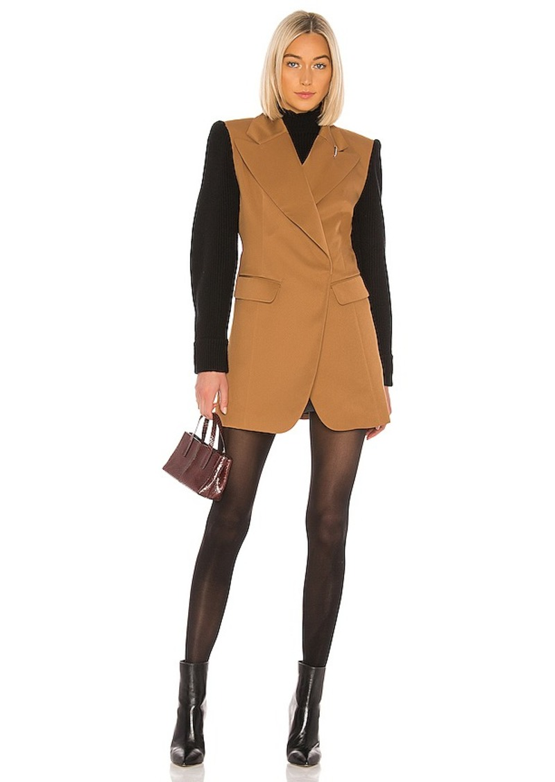Tibi Techy Twill Long Peaked Lapel Blazer