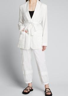 Tibi The Leisure Suit Tuxedo Blazer