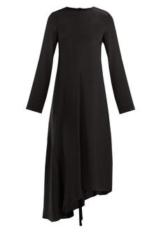 Tibi Tie-back silk dress