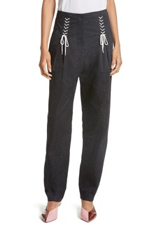 Tibi Tie Front Tweed Pants