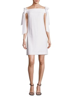 Tibi Tie Off-The-Shoulder Dress