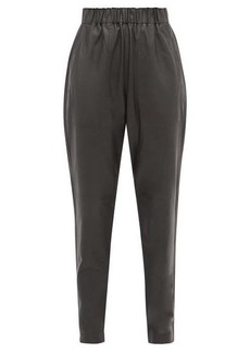 Tibi Tissue high-rise leather trousers